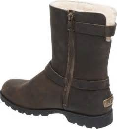 womens ugg grandle boots ugg australia womens grandle leather buckle boots in brown java lyst