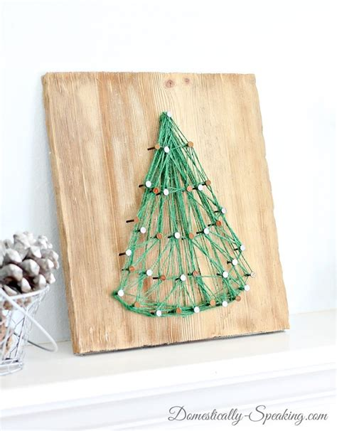 string art christmas tree domestically speaking
