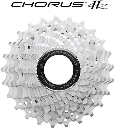 Cagnolo Chorus 11 Cassette by Wiggle Cagnolo Chorus 11 Speed Cassette 12t Upwards