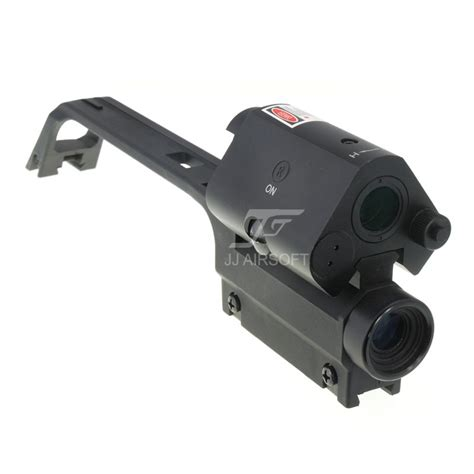 ja  jj airsoft  carry handle  scope  red dot  laser high top rail