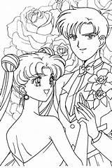 Coloring Sailor Moon Pages Sailormoon Anime Usagi Mamoru Princess Bride Paint Sheets Colouring Mermaid Adult Manga Drawing Printable Getdrawings Jupiter sketch template