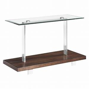 magnussen modern loft console table in brushed nickel With brushed nickel console table