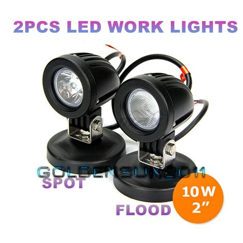 Motorcycle Led Driving Lights by 2x 10w Cree Led Work Lights Flood Spot Offroad Fog Driving