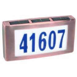 Solar House Numbers Image