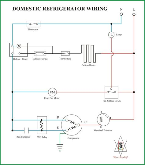 wiring diagram kulkas secara umum refrigeration air