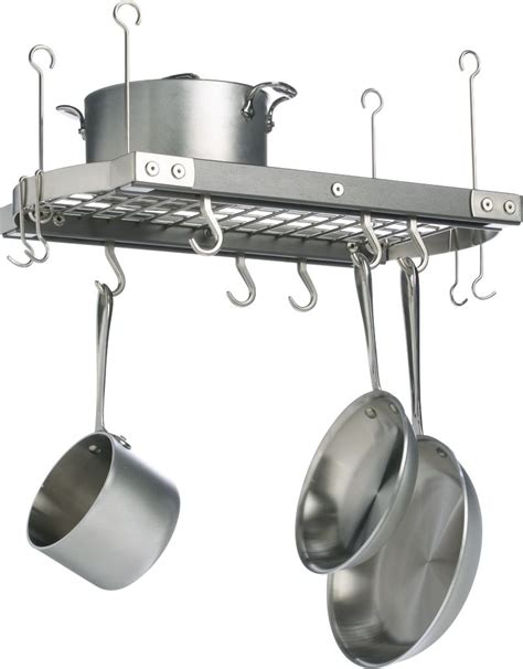 small kitchen pot rack
