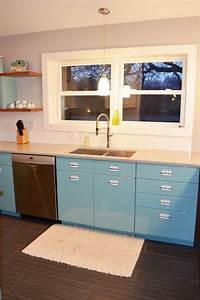 metal cabinets kitchen Sam has a great experience with powder coating her vintage steel kitchen cabinets - Retro Renovation