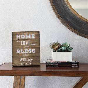stratton home decor in our home let love abide and bless With bless home furniture outlet