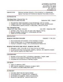 resume for a business student r 233 sum 233 s