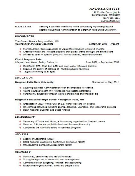 sle one page resume experience resumes