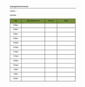17 appointment schedule templates pdf doc xls free for Appointment log template