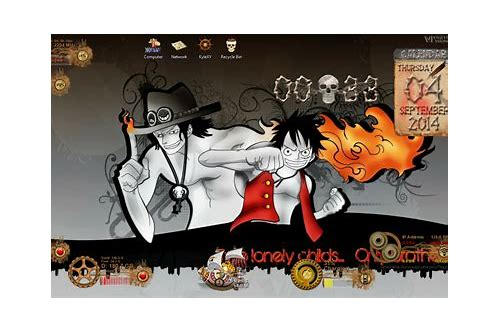 download rainmeter skins one piece