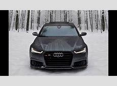 2017 Audi S6 450hp V8TT in Snow = FUN Winter Wonderland