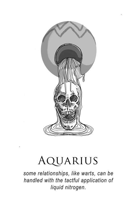 Amrit Brar's Portfolio - Book I: Such Terrible Things | Aquarius tattoo, Aquarius zodiac, Zodiac art
