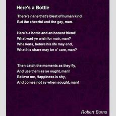 Here's A Bottle Poem By Robert Burns  Poem Hunter