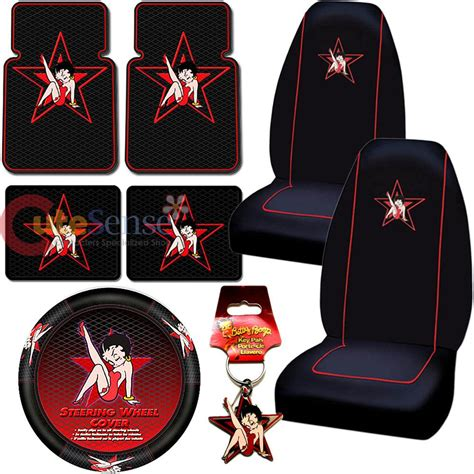 Betty Boop Seat Covers And Floor Mats by Betty Boop Car Seat Cover Auto Car Accessories Set