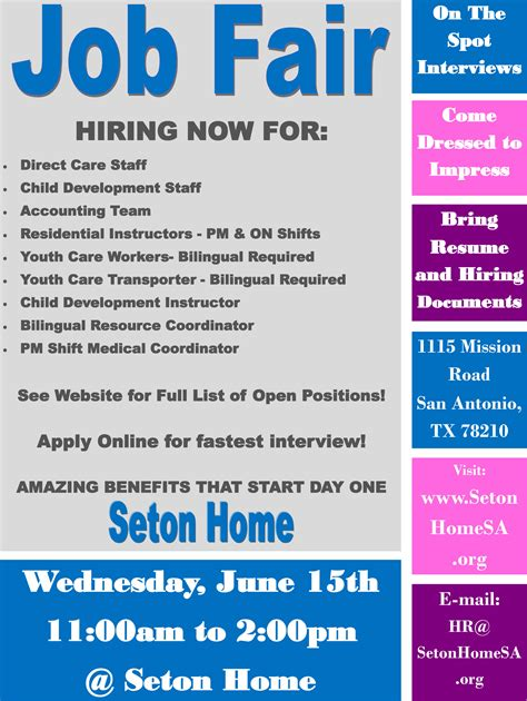 Seton Home Jobs Fair  Archdiocese Of San Antonio. Event Manager Resume. Bill Of Lading Template Excel. Make A Gift Certificate Template. So Hard To Get A Job Template. Sample Maternity Leave Letter Employer Template. Resume Template Downloads For Microsoft Word Template. Party Invitation Templates Microsoft Word Template. Business Moving Checklist Template