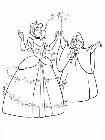 Coloring Princess Disney Pages Cinderella Games Da
