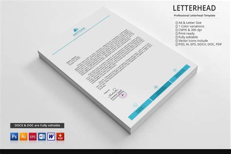 business letterhead templates word  psd