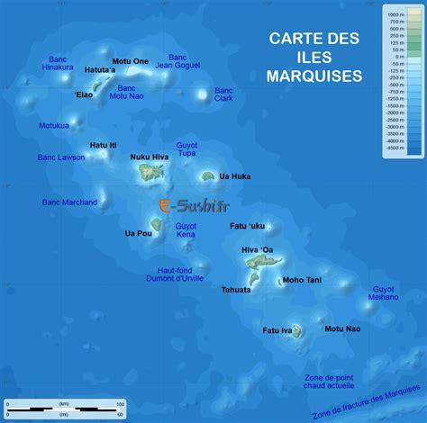 les iles marquises carte carte des marquises arts et voyages