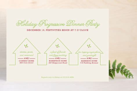 progressive dinner party holiday party invitations minted