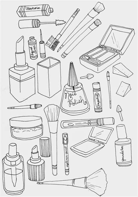Coloring With Makeup by Makeup Coloring Pages To And Print For Free