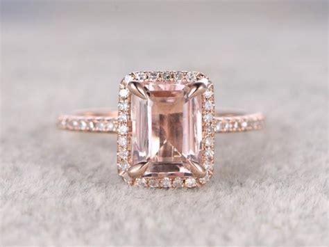 xmm morganite engagement ring rose golddiamond wedding