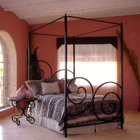 bedrooms simple bedroom with black wrought iron