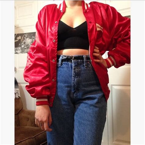 american apparel jackets coats red silky budweiser