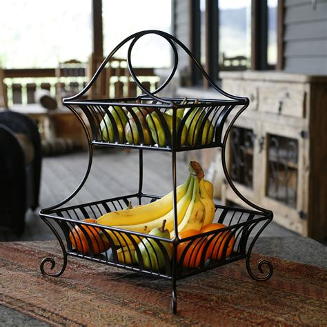 mesa international delaware collection  tier fruit basket