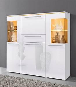 Kommoden Weiß Günstig Kaufen : highboard breite 130 cm online kaufen otto ~ Markanthonyermac.com Haus und Dekorationen