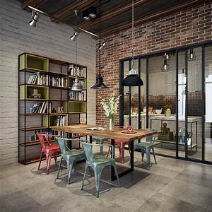 An, Industrial, Dining, Room, Style, For, The, Stars