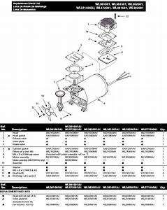 Campbell Hausfeld Air Compressor Model Wl505807  Breakdown