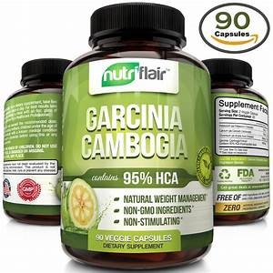 Pure Garcinia Cambogia Extract 95  Hca Diet Pills Burn Fat Natural Weight Loss