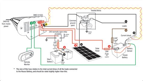 12 Volt Dc Motor Starter Wiring Diagram by Bms1215s2 24v Setup Wiring Diagrams Redarc Electronics
