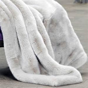 Plaid De Lit : plaid en fausse fourrure couverture fourrure synth tique imitation fourrure dessus de lit ~ Teatrodelosmanantiales.com Idées de Décoration