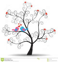 wedding guest book set tree with inlove birds royalty free stock