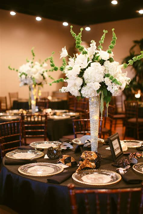 tall hydrangea centerpieces  glowing led lights  vase