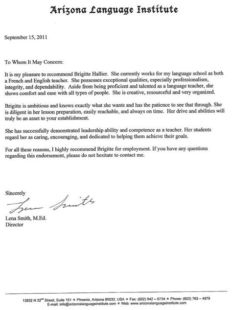 Sle Business Reference Letters by Sle Letter Of Recommendation Recommendation Letter