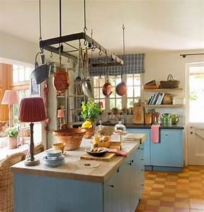 Suspension Ilot Cuisine : 1001 designs et conseils pour la cuisine rustique parfaite ~ Teatrodelosmanantiales.com Idées de Décoration