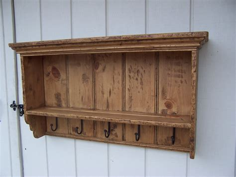 primitive shelf plate rack rustic country wood dish distressed etsy
