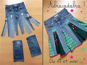 Que Faire Avec Des Vieux Jeans : du fil et mon diy recycler un vieux jean en jupe ~ Melissatoandfro.com Idées de Décoration