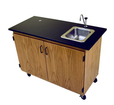 portable cing sink table portable demonstration unit sheldon laboratory systems