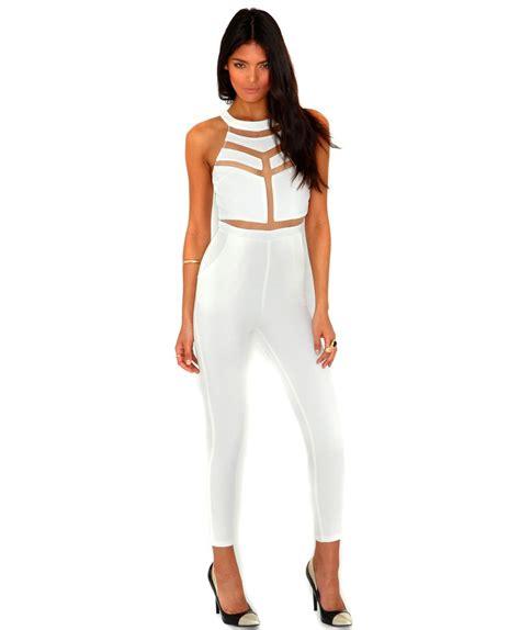 white jumpsuits for womens white jumpsuit fashion ql