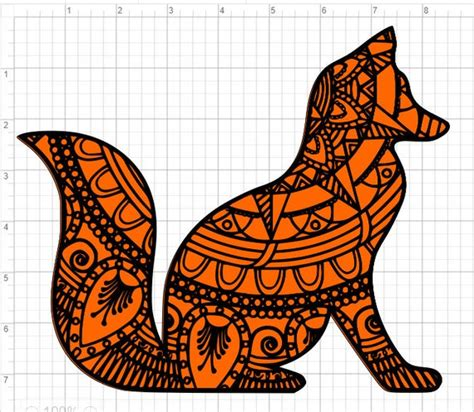 This post may contain affiliate links. Layered Fox Mandala Design SVG EPS DXF Studio 3 Cut File ...