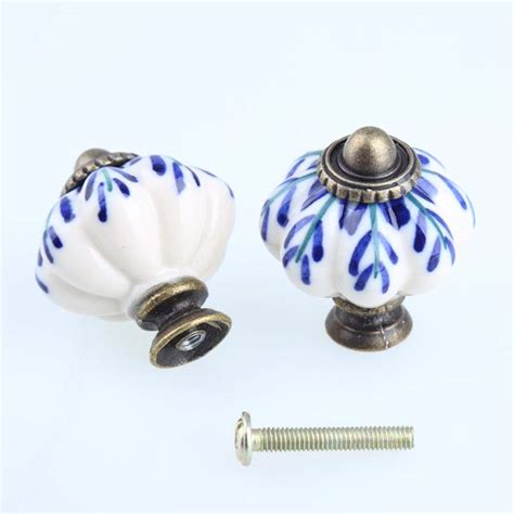 white cabinet handles and knobs aliexpress com buy hand painted blue and white porcelain
