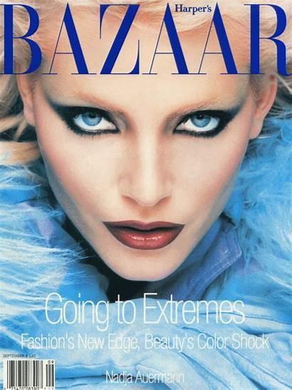 Nadja Auermann Bazaar Makeup 1994 Magazine Harper