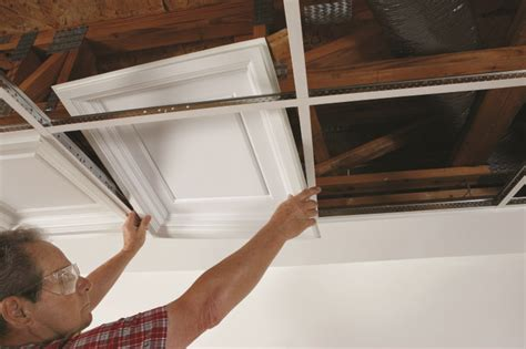 Drywall Ceiling Panels by Clever And Affordable Ceiling Design Made Possible With