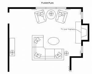 Living Room Floor Plan  Sectional  Tv Over Fireplace  Reading Area