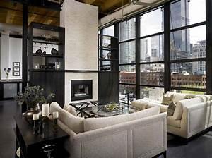 Sleek, And, Sexy, Industrial, Style, Urban, Loft, Showcases, Chicago, Skyline, Views